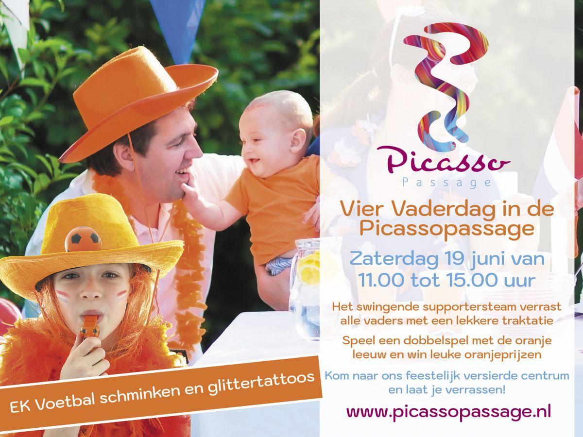 Vier vaderdag in de Picassopassage