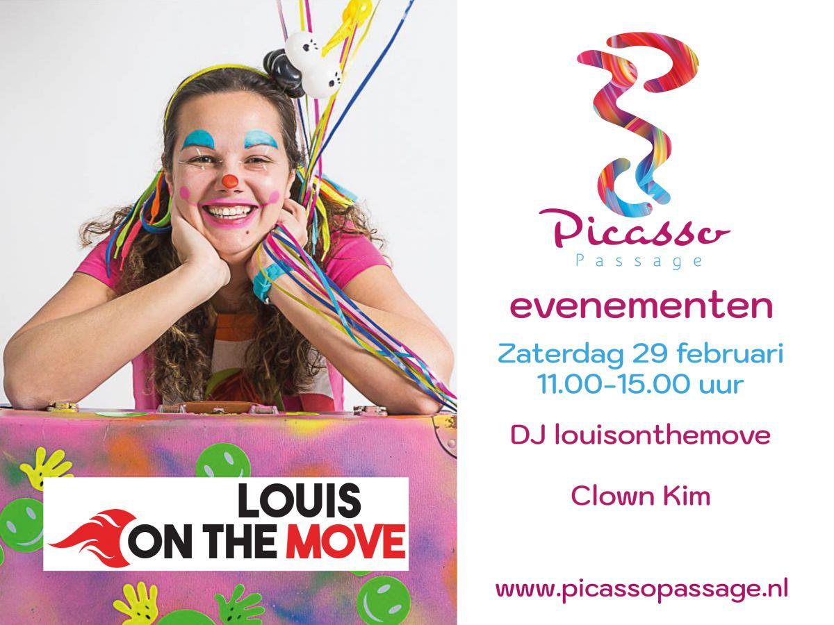 DJ Louis on the move en clown kim